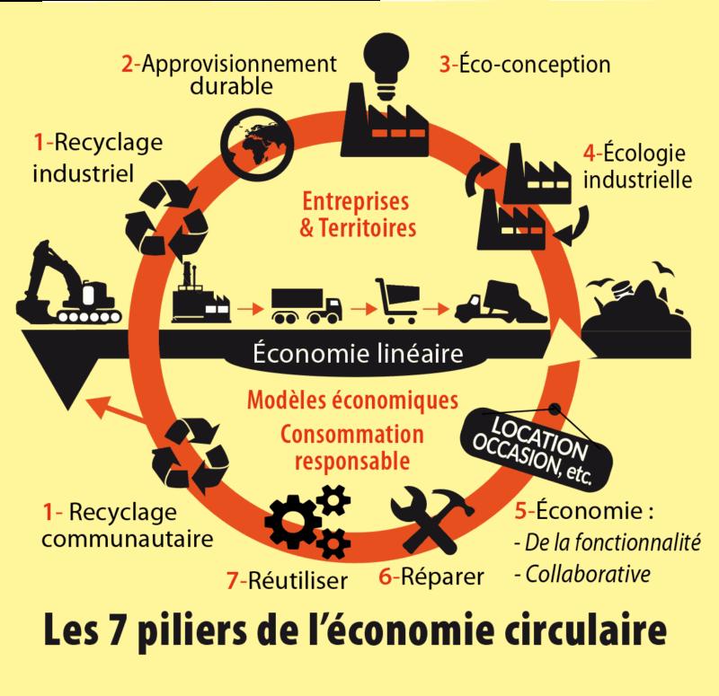 Infographie : les 7 piliers de l'économie circulaire