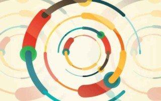 économie circulaire symbole connection